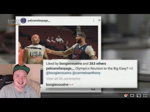 CARMELO ANTHONY TO THE NEW ORLEANS PELICANS? ANTHONY DAVIS + DEMARCUS COUSINS + MELO BIG 3? REACTION