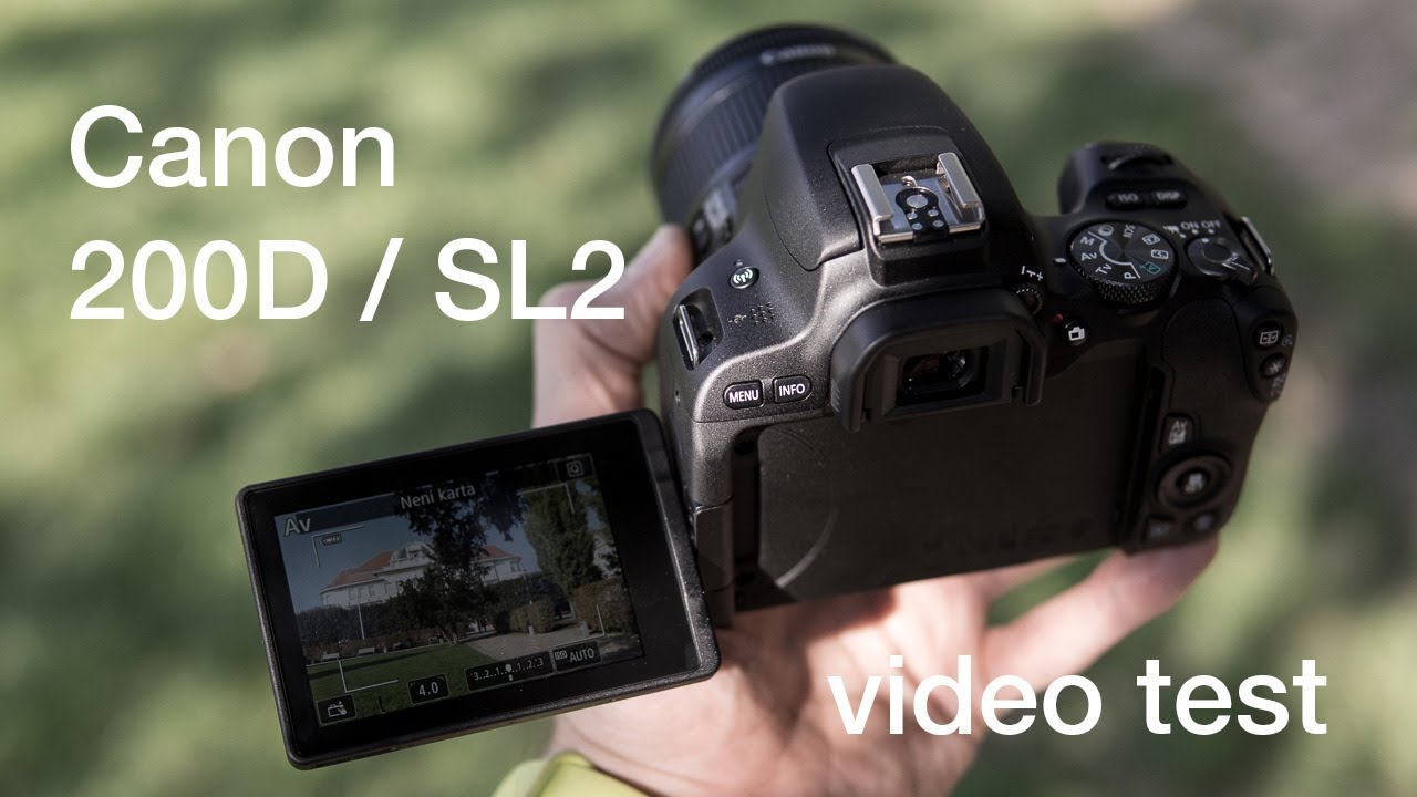Canon 200D test kvality videa / video quality test (day and night