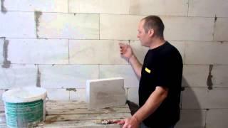 Штукатурка газобетона , подготовка основания(Процесс подготовки стен, из газосиликатных или газобетонных блоков, под нанесение. штукатурки на цементно..., 2014-11-07T01:29:13.000Z)
