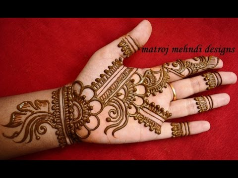 Mehndi Hands Designs : Easy simple floral mehndi henna designs for hands matroj