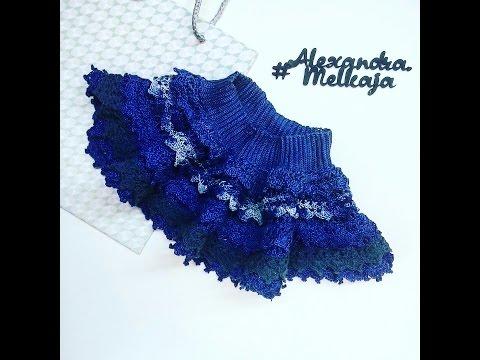 2 Вязаная юбка крючком Crochet straight fashion skirt