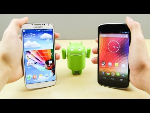Samsung Galaxy S4 vs Google LG Nexus 4
