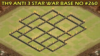 Clash of Clans | Town Hall 9 Anti 3 Star War Base | Layout 260
