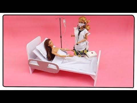 Como fazer: Cama de Hospital para Barbie, Monster High, Baby Alive entre outras!