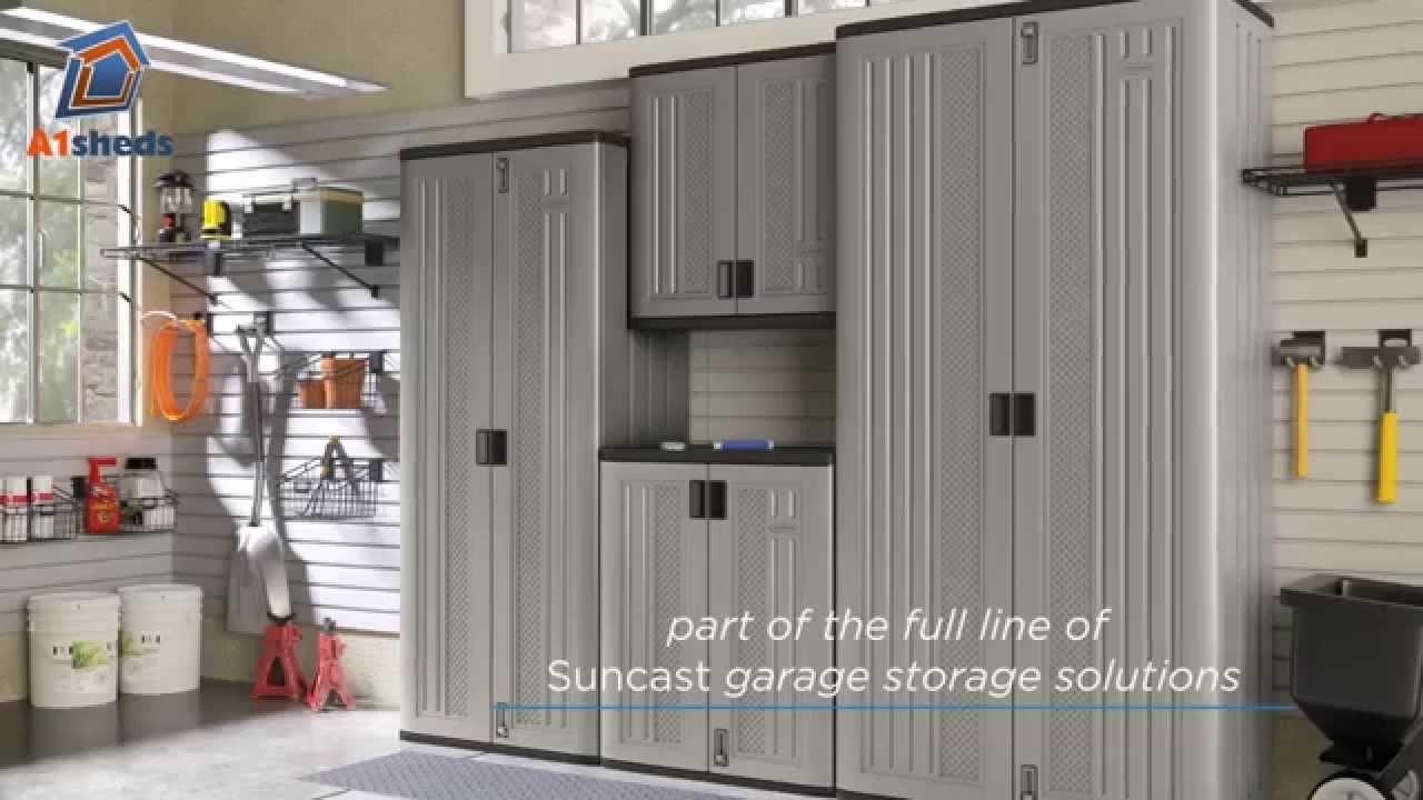 Suncast UK Tall Storage Cabinet   YouTube