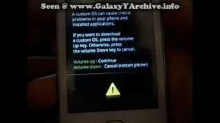 Repeat youtube video Flashing stock ROM on Samsung Galaxy Y