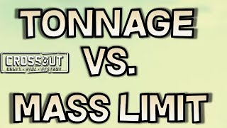 Tonnage vs Mass Limit -- Crossout