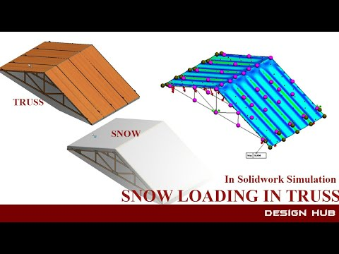 Snow load in truss design with practical approach in solidwork simulation.