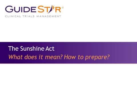 The Sunshine Act: What does it mean and how to prepare?