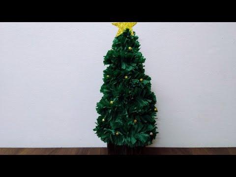 Christmas Tree Making   How To Make Christmas Tree   DIY Easy Christmas Tree Making and Decoration