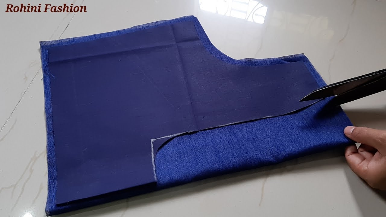 Very simple and easy designer blouse back neck design|cutting and stitching  back neck