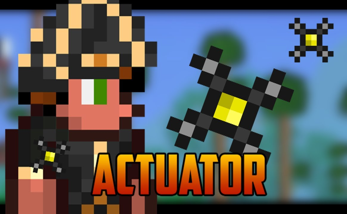 Terraria 12 Actuator For Traps Or Hiding Your Base Youtube Wiring
