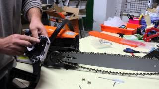 Montar y arrancar motosierra por primera vez montaje moto sierra
