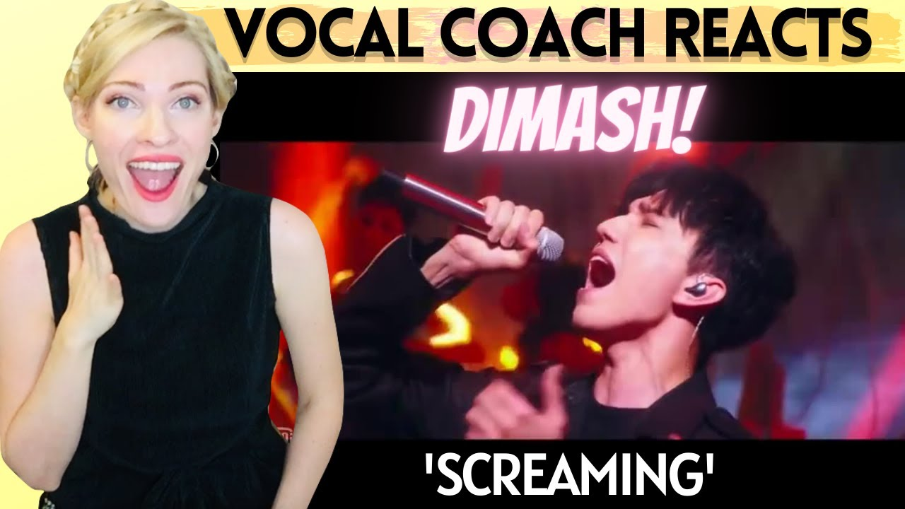 Vocal Coach Reacts: DIMASH 'Screaming' Idol Hits Live!