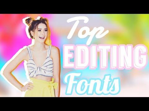TOP 26 *FREE* EDITING FONTS 2018