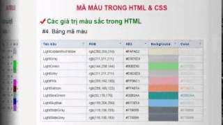 Bài 18 - Mã màu trong HTML và CSS