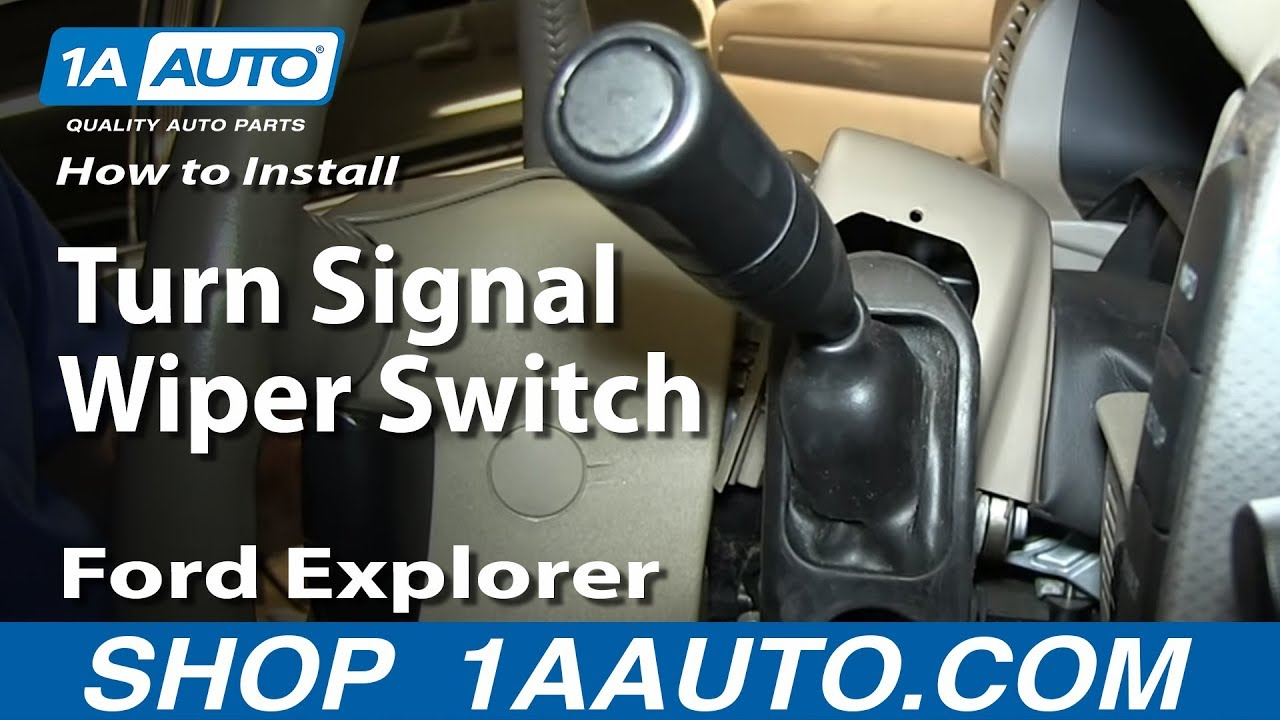 How To Install Replace Turn Signal Wiper Switch 2002 05 Ford Wiring Diagram For Car Flasher Unit Explorer Mercury Mountaineer Youtube