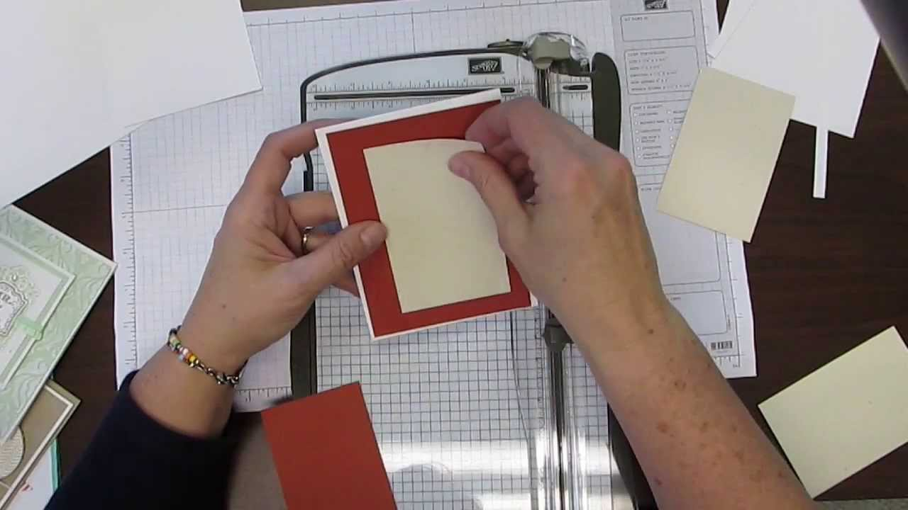 how to cut your card stock when making a greeting card and for