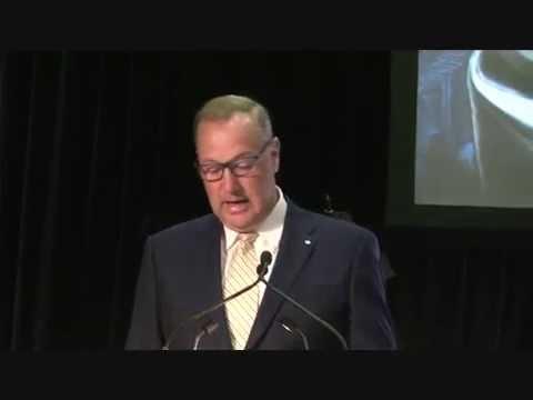 George Cope, CEO Bell Canada, announces Gigabit Fibe