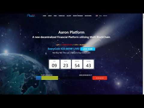 Платформа Aaron - децентрализованная финансовая система, использующая мульти-блокчейн. Часть 1.