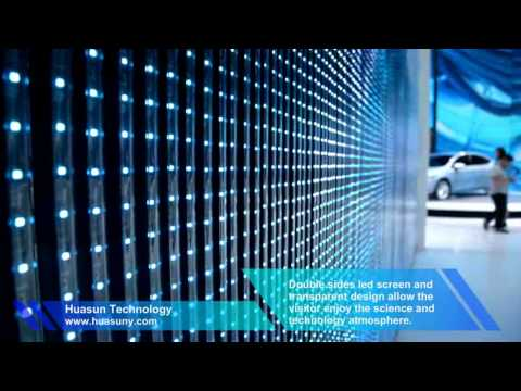 Hi transparency Pixel Strip LED screen in Buick's booth 2015 Shanghai auto show