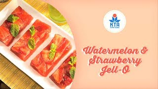 Watermelon And Strawberry Jell-o By Chef Ryan