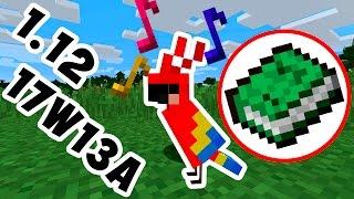 ПОПУГАИ! | ОБЗОР СНАПШОТ 17W13A Minecraft | МАЙНКРАФТ 1.12 |