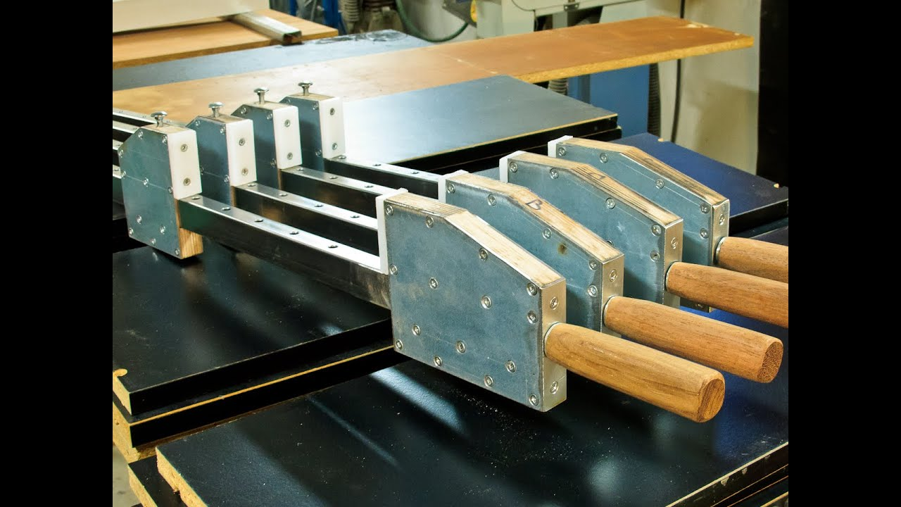 Homemade bar clamps - YouTube