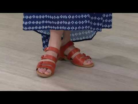 Comfortiva By Softspots Leather Sandals - Reading On QVC