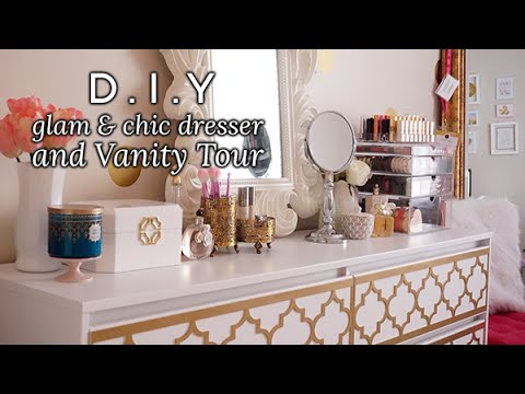 DIY Glam  Chic Dresser  Vanity Tour  Charmaine Dulak