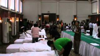Journalists Making Bed Competition @ Grand Istana Rama Hotel Kuta Bali