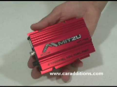 Red 2 Channel 300 Watt Car Audio Amplifier Motorcycle Amp Amps