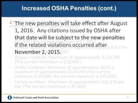 OSHA Update - Jess McCluer