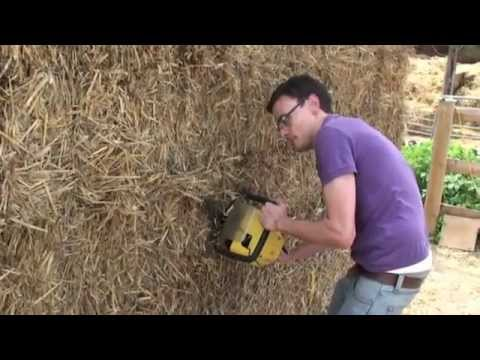 Build A Shed From Straw Bales Youtube