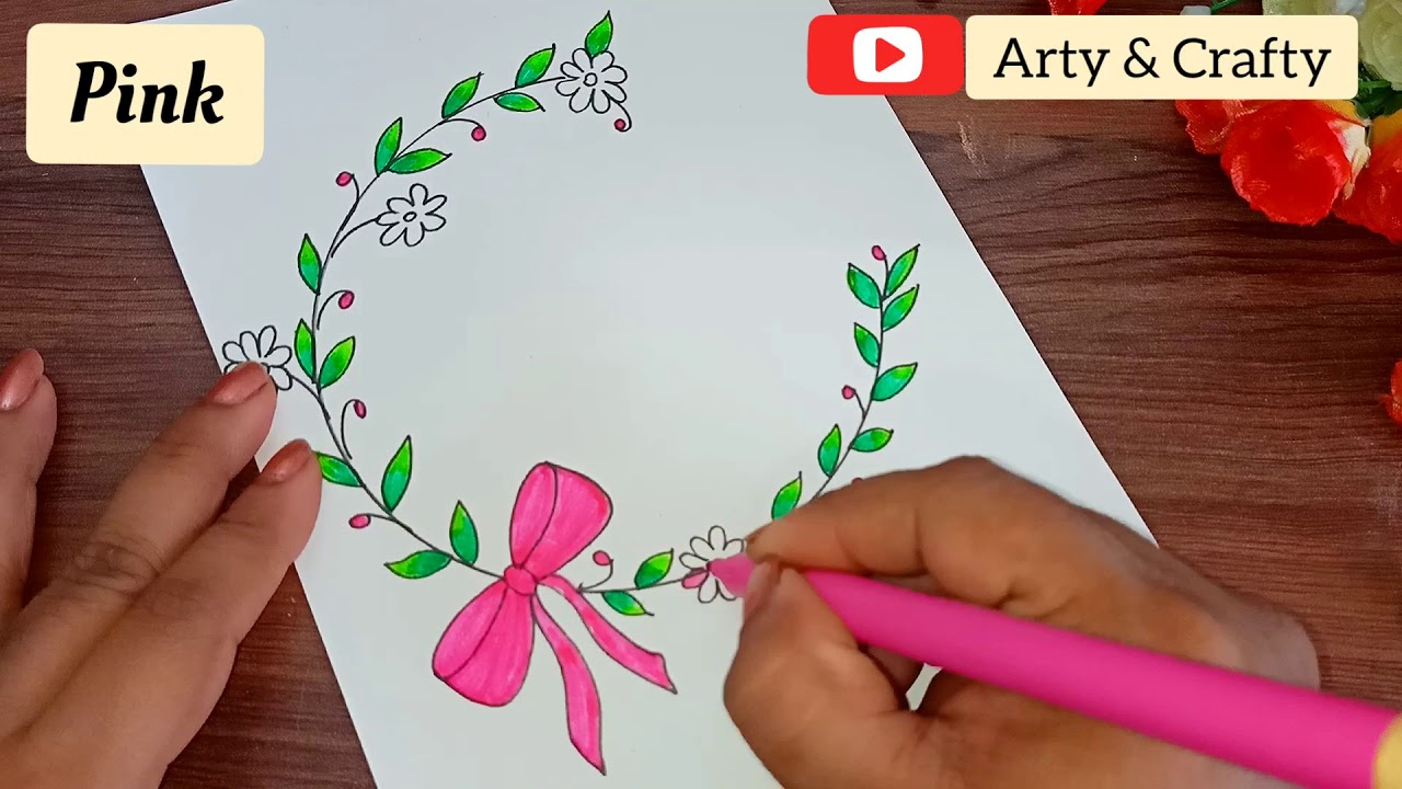 beautiful border design for project | assignment front