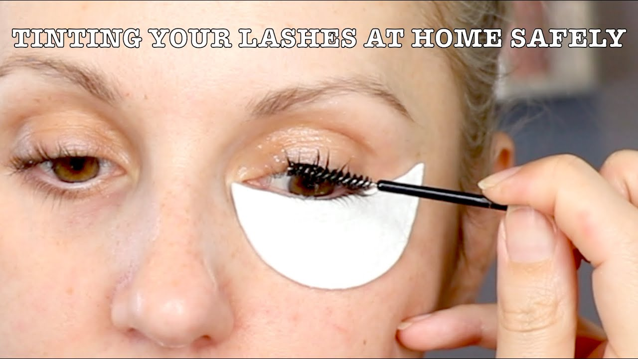 HOW I TINT MY LASHES SAFELY AT HOME