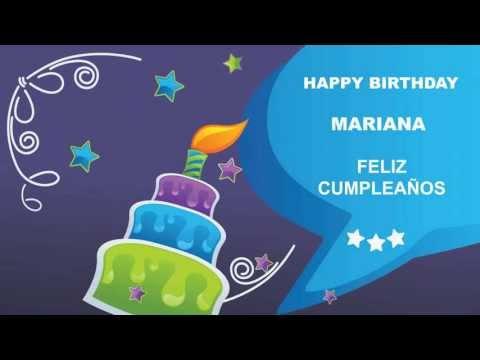 Mariana - Card Tarjeta - Happy Birthday