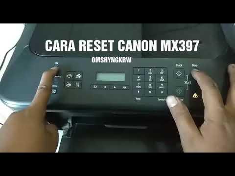 Reset Canon Mx397 Youtube