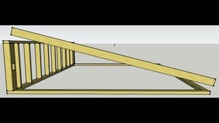 Skillion Roof Scribing Rafters