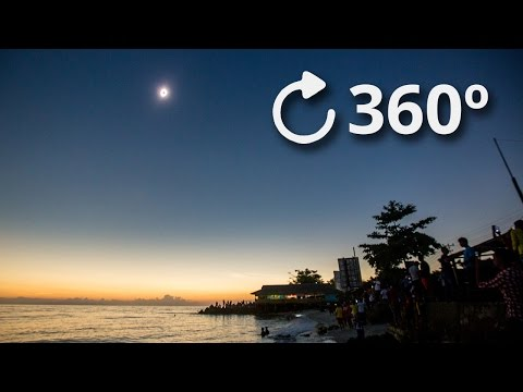 360 Total Solar Eclipse Experience 4K - Indonesia 2016