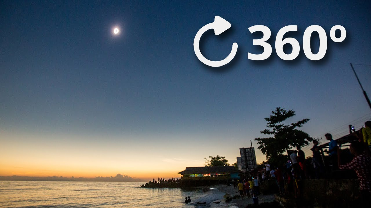 360º Total Solar Eclipse Experience 4K - Indonesia 2016