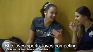 UCLA-bound Allison Jacobs stars in girls' volleyball