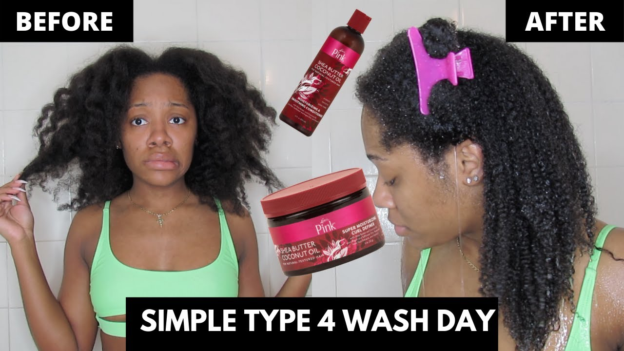 Simple Wash Day Routine for Type 4 Hair | Luster's Pink Line Review