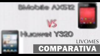 comparativa camara fotografica bmobile ax512 vs huawei y320