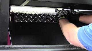 club car ds diamond plate access panel cover   how to install video   golf cart accessories
