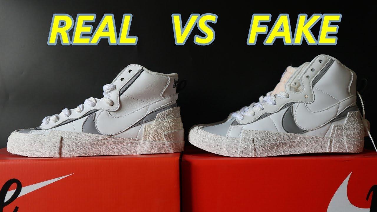 REAL VS FAKE || SACAI X NIKE BLAZER MID