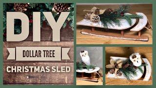DIY Farmhouse Rustic Christmas Sled - Neutral Color Sleigh - Christmas Home Decor Ideas - Xmas 2019