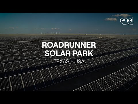 The Roadrunner solar power plant, the largest in the USA