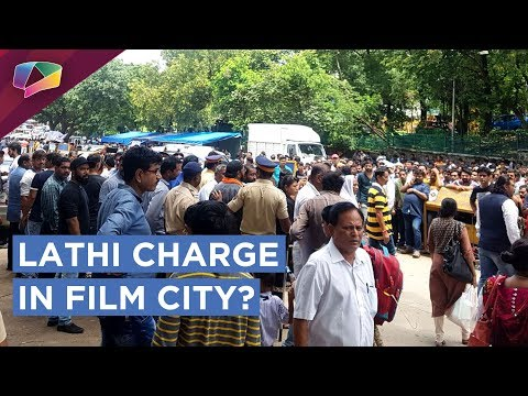 Workers Union's Strike Outside Film City | Police Does Lathi Charge | EXCLUSIVE