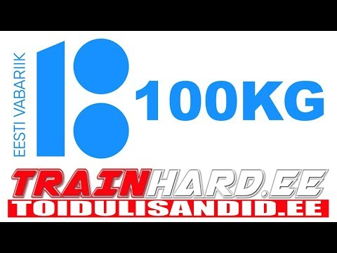 Eesti Vabariik 100kg www.trainhard.ee www.toidulisandid.ee